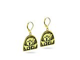 """Bear"", Symbol of Strength and Leadership Earrings, Yellow Gold"