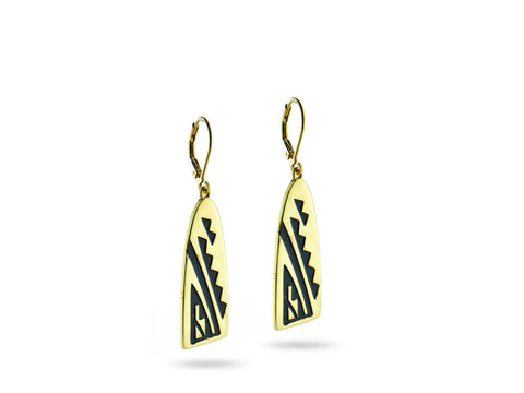 """Good Prospects"" Symbol Earrings Yellow Gold"
