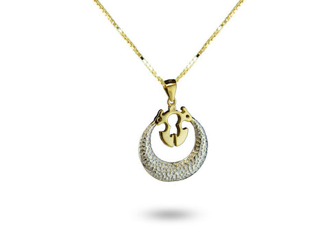 """Gagna"", The Sky Necklace Dual Tone Gold"