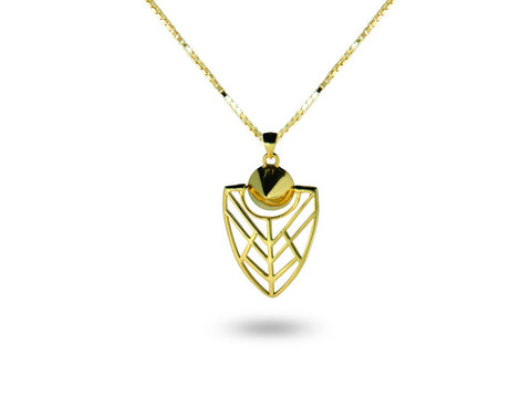 """Tlalli"" The Earth, Necklace in Yellow Gold"