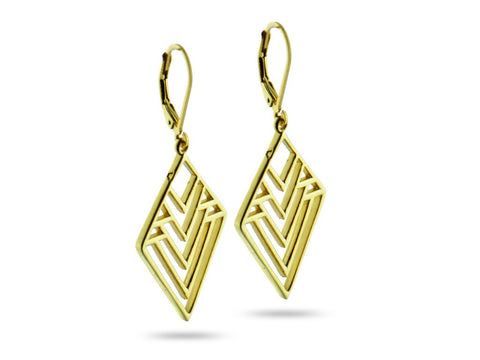 """Nenetl"", Doll Earrings in Yellow Gold"