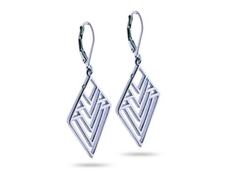 """Nenetl"", Doll Earrings in White Gold"