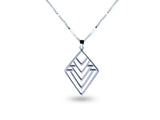 """Nenetl"", Doll Necklace in White Gold"