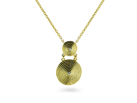 """Pendo"" Love,Necklace in Yellow Gold"