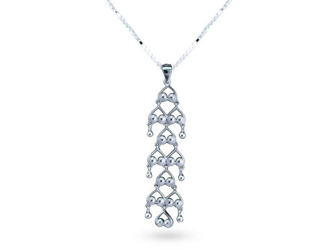 """Bahula"", The Star Necklace White Gold"