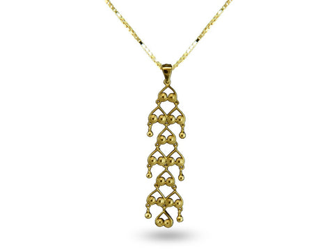 """Bahula"", The Star Necklace Yellow Gold"