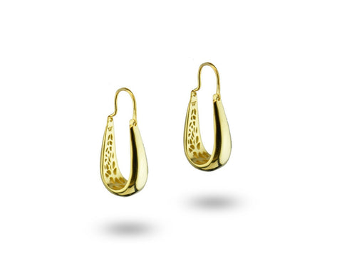 """Hansa"", The Swan Earrings Yellow Gold"