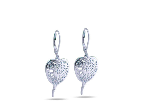 """Bodhi Tree"", The Awakening Earrings White Gold"