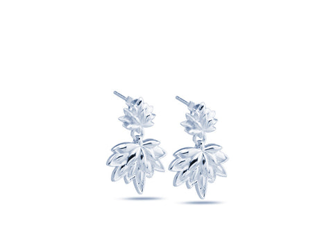 """Lotus"", A Symbol of Spiritual Unfoldment Earrings White Gold"