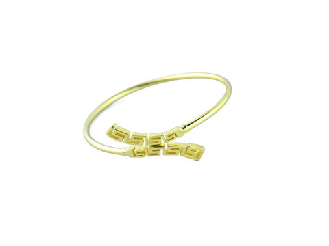 """Meandros"" Key- The Symbol of Eternity, Bangle in Yellow Gold"
