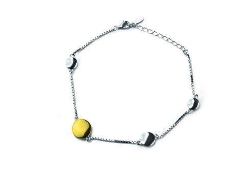 """Adaani"", The Pretty One Bracelet Yellow and White Gold"