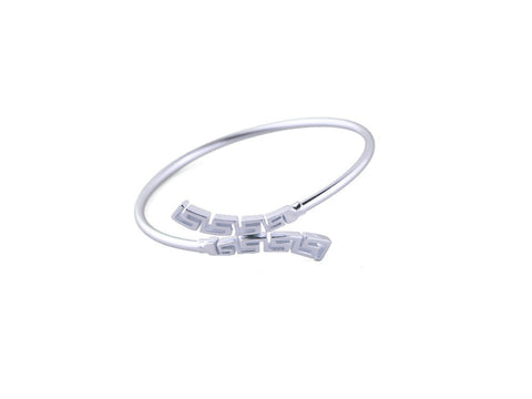"""Meandros"" Key- The Symbol of Eternity, Bangle in White Gold"