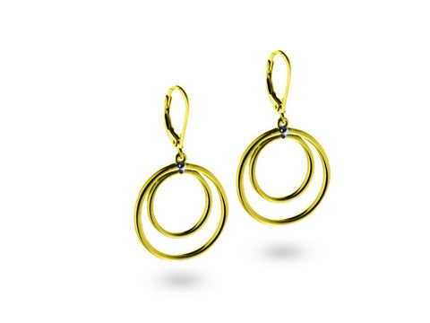 """Katia"", The Stylish One Earrings Yellow Gold"
