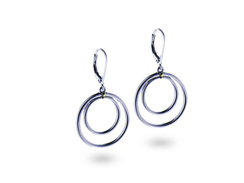 """Katia"", The Stylish One Earrings White Gold"