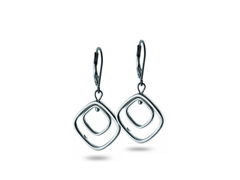 """Chiara"" The Bright One, Earrings in White Gold"
