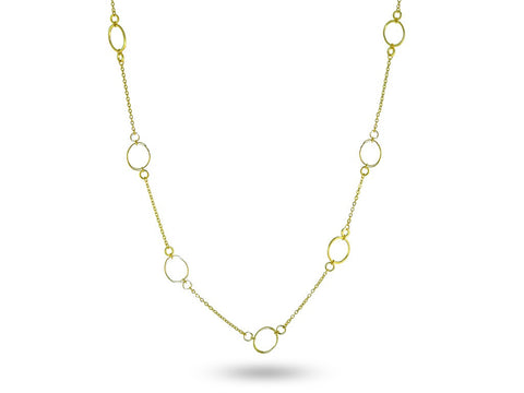 """Ersilia"" The Tender One, Necklace in Yellow Gold"