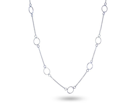 """Ersilia"" The Tender One, Necklace in White Gold"
