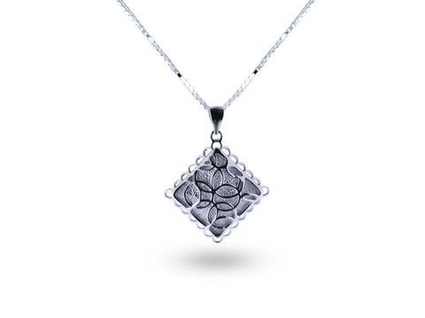 """Aida"", Happy Necklace in White Gold"