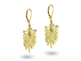 """Padmakali"", The Lotus Bud Earrings Yellow Gold"