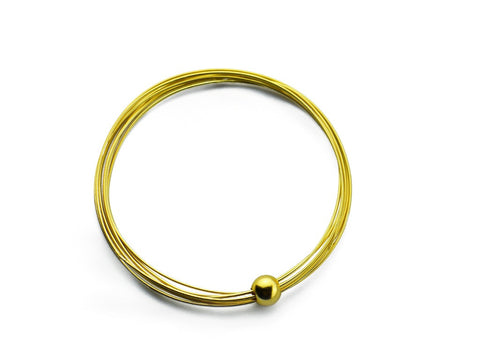 """Jelani"", The Mighty Bangle Yellow Gold"