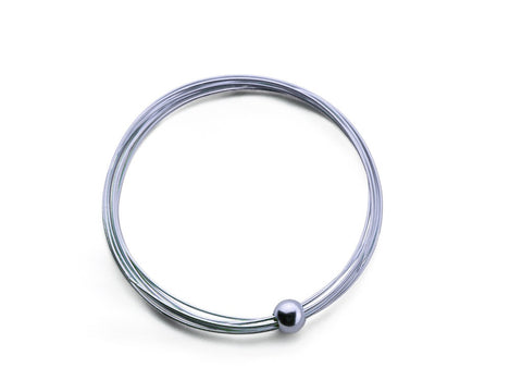 """Jelani"", The Mighty Bangle White Gold"