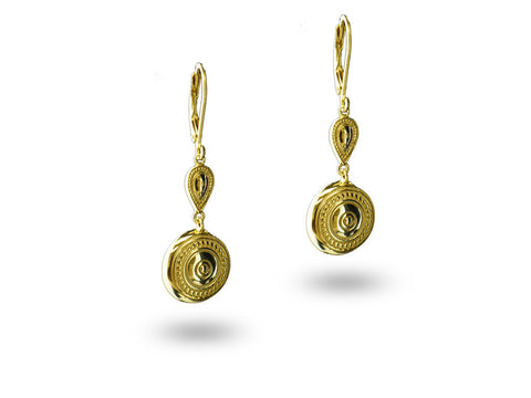 """Aadarshini"", Idealistic Earrings Yellow Gold"