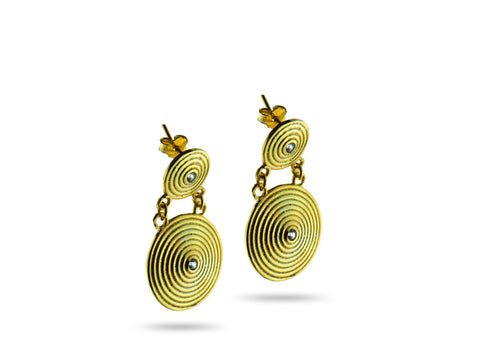 """Pendo"" Love, Earrings in Yellow Gold"
