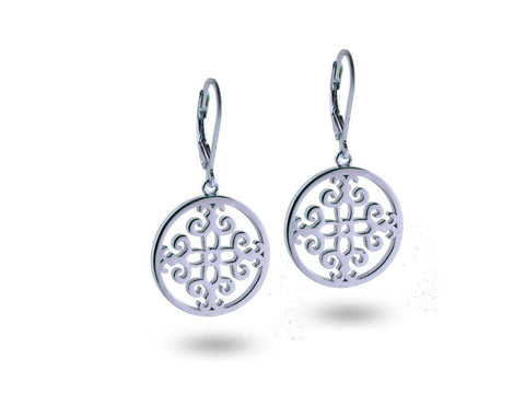 """Felicite"", The Fortunate One Earrings White Gold"