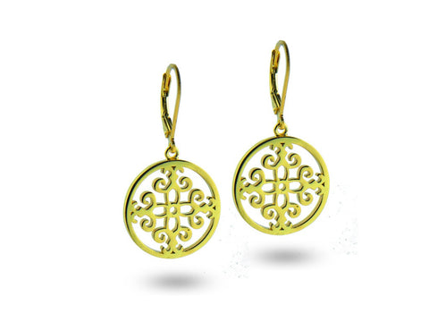 """Felicite"", The Fortunate One Earrings Yellow Gold"