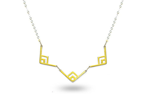 """Chicahua"" The Strong One, Necklace in Yellow Gold"