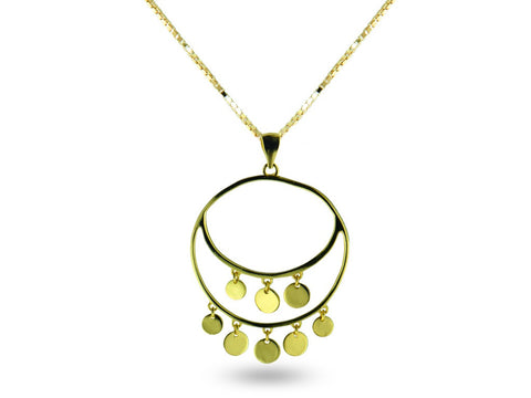 """Vittoria"", Victory Necklace in Yellow Gold"
