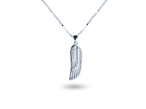 """Isis"", The Winged Goddess Necklace White Gold"