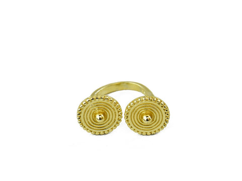 """Jahanara"", The Queen Ring Yellow Gold"