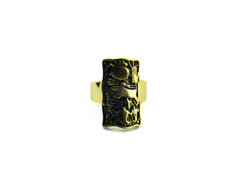"""Hand"", Symbol of Achievement and Legacy Ring Yellow Gold"