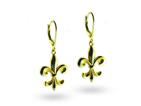 """Kortney"", The Dignified Earrings Yellow Gold"