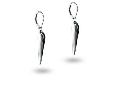 """Idhaya"", The Heart Earrings White Gold"