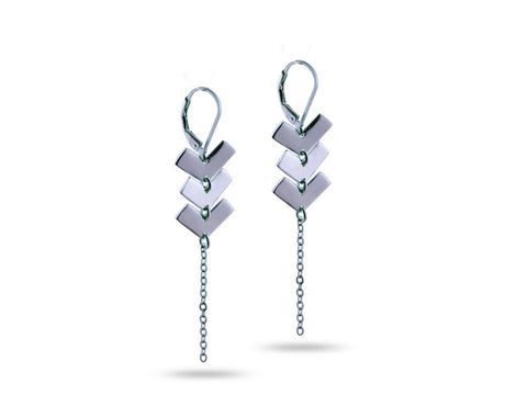 """Zyanya"" Forever, Earrings in White Gold"