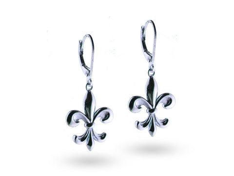 """Kortney"", The Dignified Earrings White Gold"