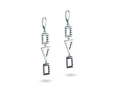 """Sadiki"",The Faithful One Earrings White Gold"
