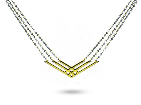 """Izel"" The Unique One, Neckace in Yellow Gold"