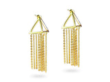 """Pyramid"", Earrings Yellow Gold"
