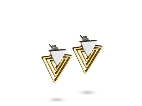 """Theoris"",The Great One Earrings Yellow Gold"