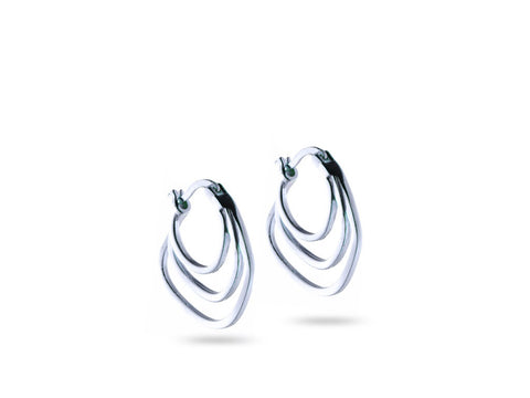 """Ersilia"" The Tender One, Earrings in White Gold"