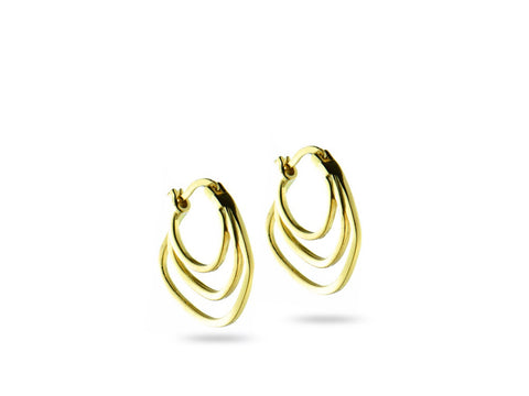 """Ersilia"" The Tender One, Earrings in Yellow Gold"
