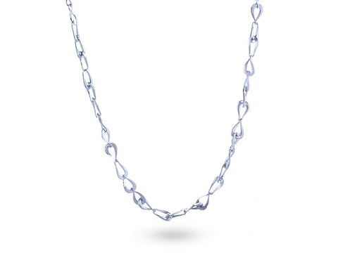 """Rosabella"" The Rose, Necklace in White Gold"