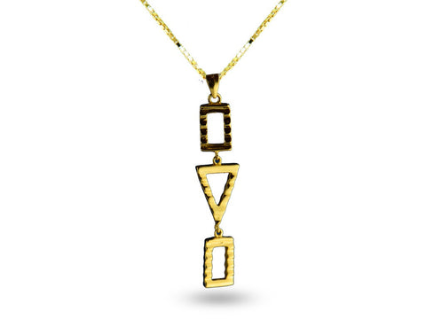 """Sadiki"",The Faithful One Necklace Yellow Gold"