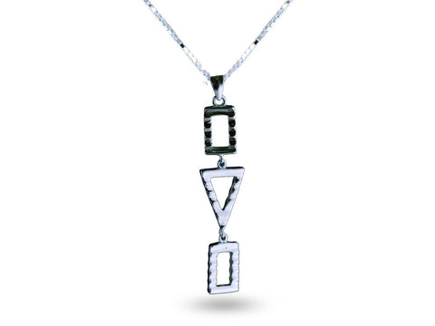 """Sadiki"",The Faithful One Necklace White Gold"