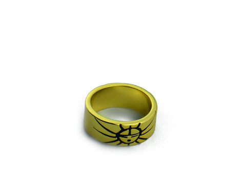 """Sun"", Symbol of Life and Warmth Ring Yellow Gold"