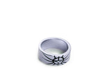 """Sun"", Symbol of Life and Warmth Ring White Gold"