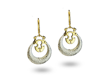 """Gagna"", The Sky Earrings Dual Tone Gold"